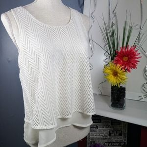 🆘2/$20 Candies Double Layered Flowy Cream Tank